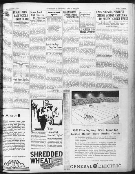 Daily Trojan, Vol. 22, No. 37, November 03, 1930