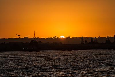 Sea Port Sunset