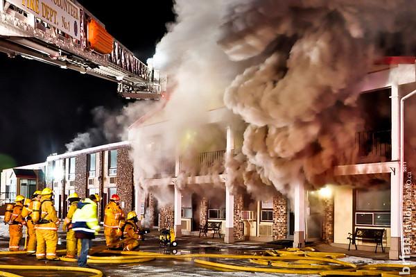 Pine View Motel Fire Jan. 11, 2012