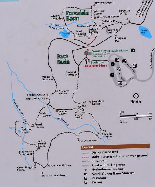 Norris Geyser Basin Area Map