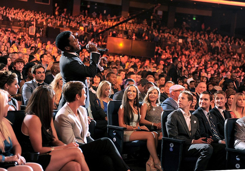 . Ty Taylor, of the musical group Vintage Trouble, performs at the ESPY Awards on Wednesday, July 17, 2013, at Nokia Theater in Los Angeles. (Photo by Jordan Strauss/Invision/AP)