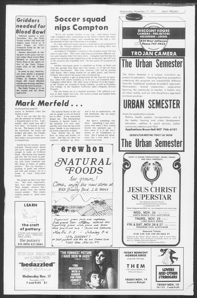 Daily Trojan, Vol. 64, No. 40, November 17, 1971