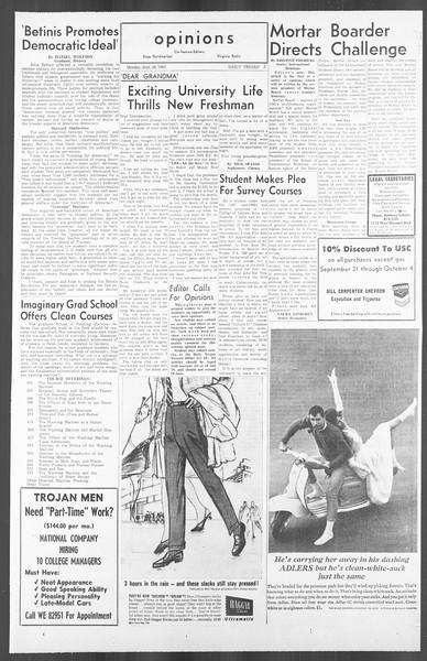 Daily Trojan, Vol. 56, No. 6, September 28, 1964