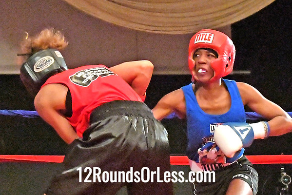 Bout 7 Ahara Archie, Blue Gloves, Zelma George Rec., Cleveland -vs- Tamara Guthridge, Red Gloves, Empire BC, Detroit, MI, 123 Lbs.
