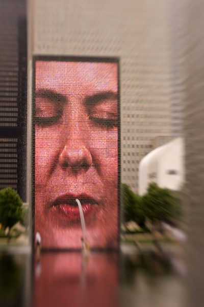 Crown Fountain, Millennium Park, Chicago, Illinois.