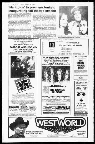 Daily Trojan, Vol. 67, No. 29, October 25, 1974