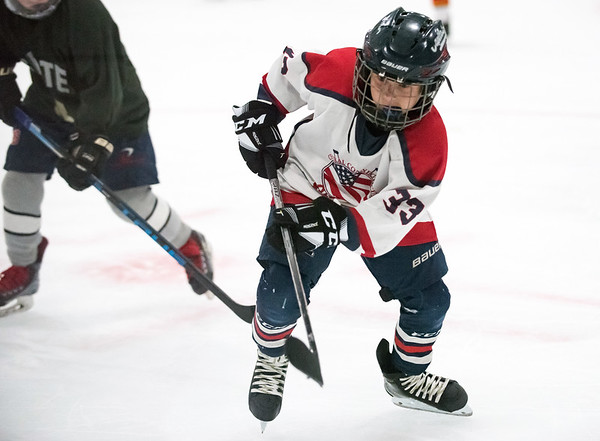 07/25/18 Wesley Bunnell | Staff The Central CT Capitals AA (Newington) were defeated by Kent Elite 07 in 12U Nutmeg Games ice hockey on Wednesday evening. Justin Bonfiglio (33).