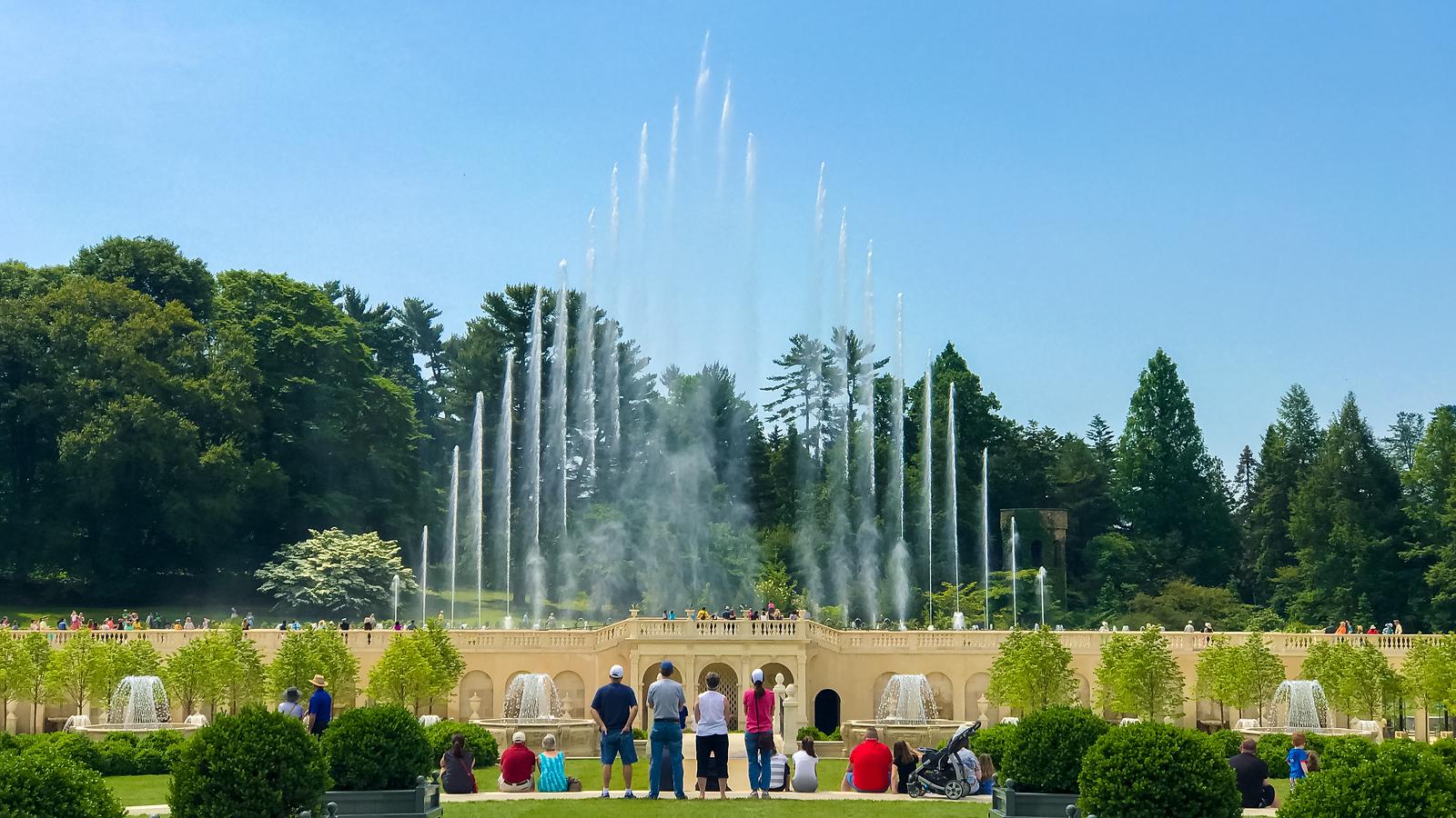 新喷泉新面貌,费城长木公园