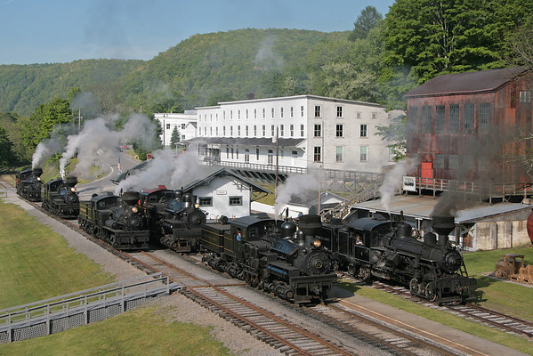 Cass Six Locomotive Photo Shoot