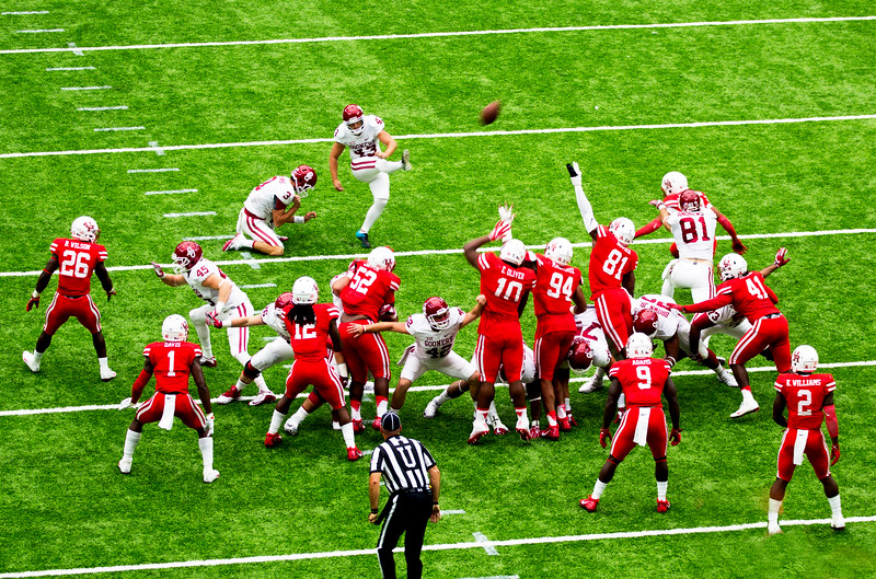 We stop OU in the Red Zone, and they too settle for a field goal.