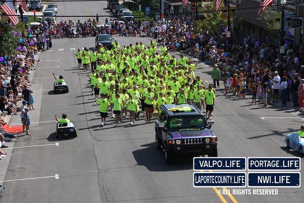 Popcorn Fest Parade Aerial Images 2013