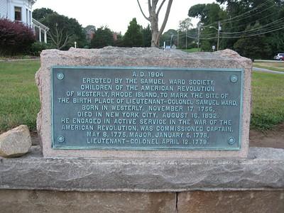 Samuel Ward Home Site *