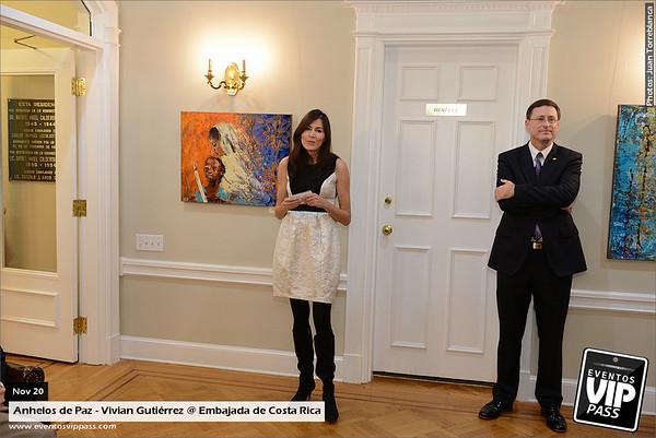 Anhelos de Paz - Vivian Gutierrez @ Embajada de Costa Rica | Thu, Nov 20
