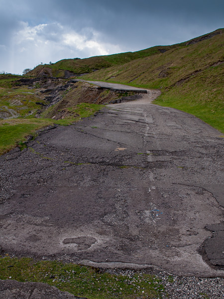 Abandoned road of Mam Tor