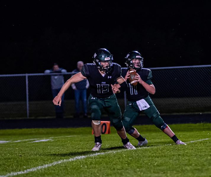 Holy Family Varsity Football vs. Mound Westonka, 8/29/19: Carver Kasper '21 (11)