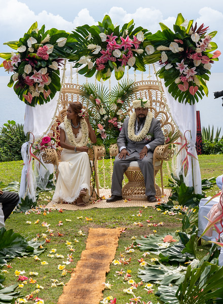 Traditional wedding in French Polynesia - May, 2021