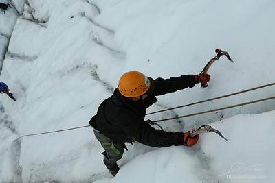 Ice Climbing with Sam and Noah