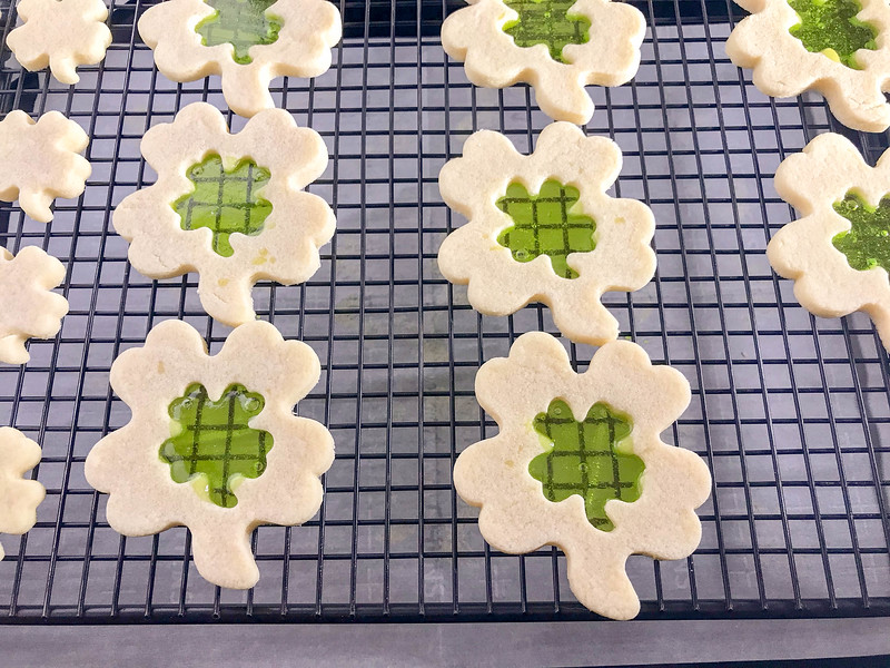 St. Patrick's Day stained glass cookies are so gorgeous and such fun, that your kids will be begging to help you bake them. Perfect for school and home fun!