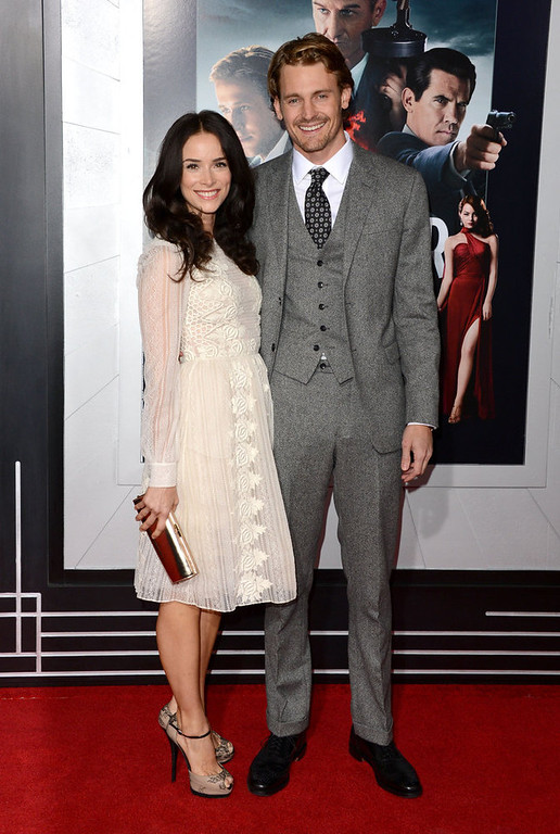 ". Actors Abigail Spencer and Josh Pence arrive at Warner Bros. Pictures\' ""Gangster Squad\"" premiere at Grauman\'s Chinese Theatre on January 7, 2013 in Hollywood, California.  (Photo by Jason Merritt/Getty Images)"