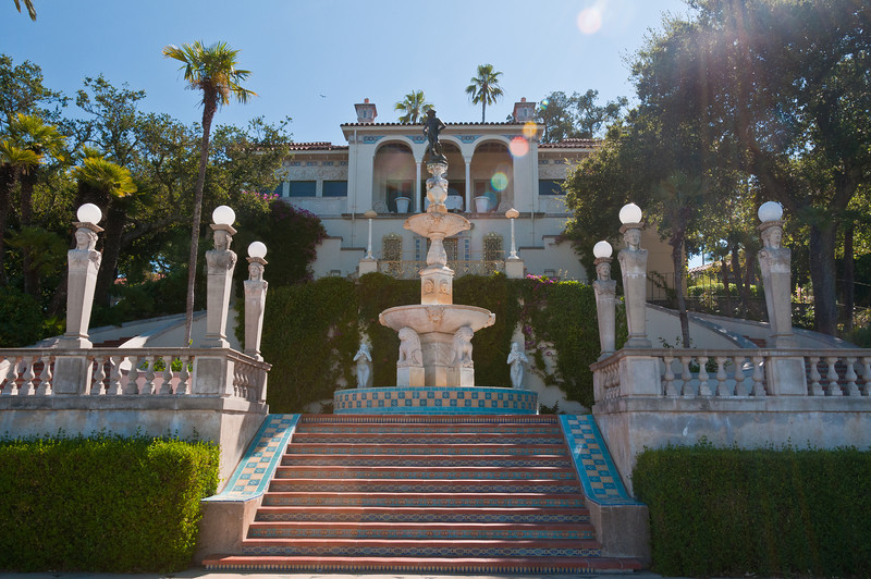 The first stop on the Hearst Castle tour is of one of the guest houses (yes, this is a guest house and not the actual Castle!).