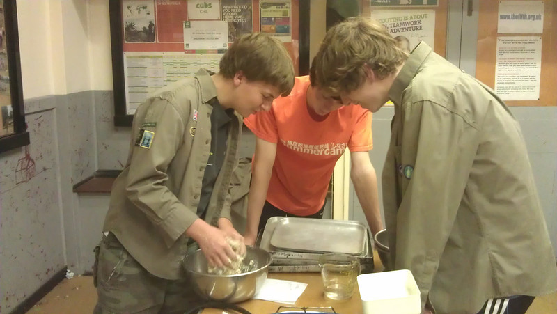 Explorers Pizza Making 2012