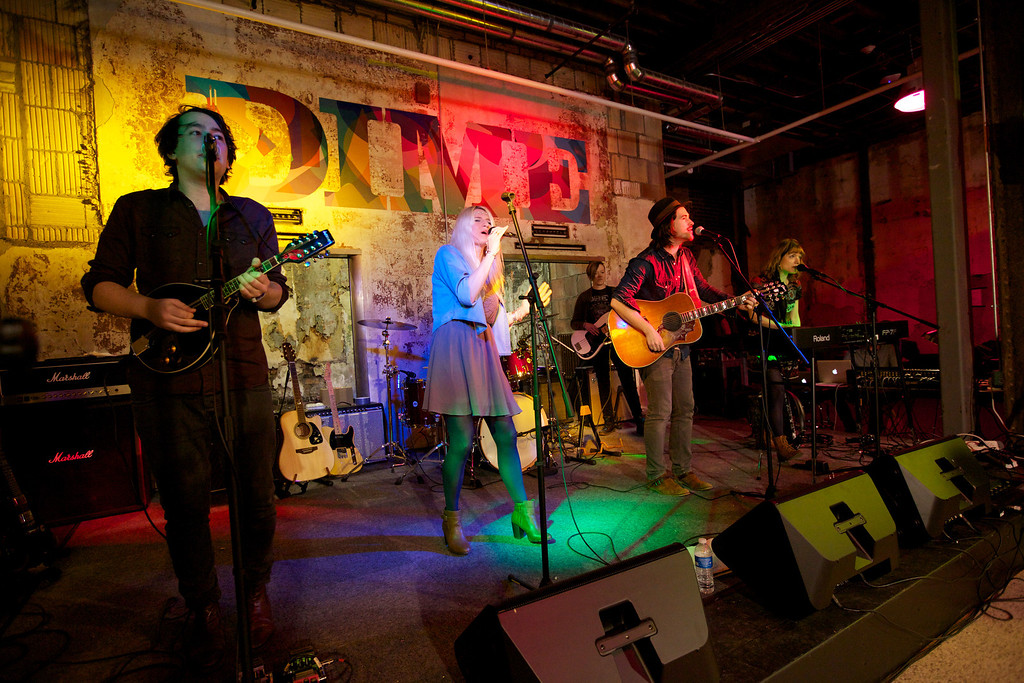 . The Wildflowers perform during the press conference for DIME \'Detroit Institute of Music Education\' in 1520 Woodward to announce the opening of their school in Detroit.
