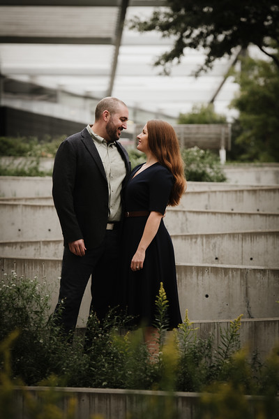 Kasey and Patrick's Downtown Dallas Engagement Session