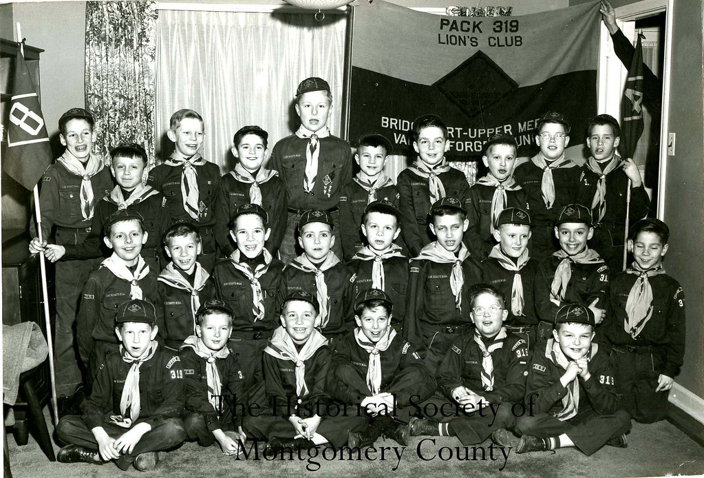. This undated photo from the Historical Society of Montgomery County shows the Bridgeport�Upper Merion�Valley Forge cub scout troop.