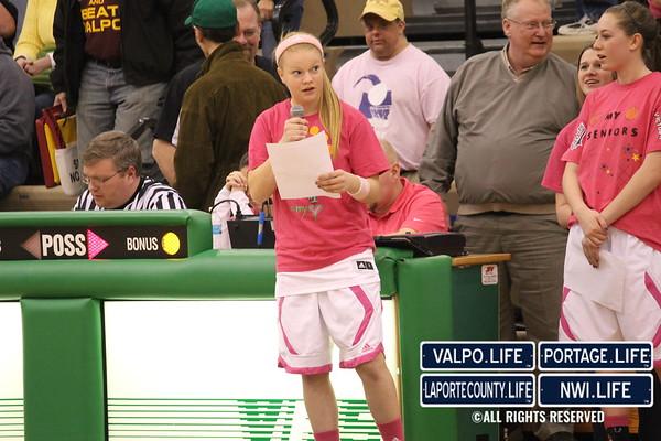 VHS Girls Varsity Basketball vs Chesterton 2-1-13