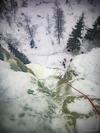 Ice-climbing at Korouoma 20-21.1.2017