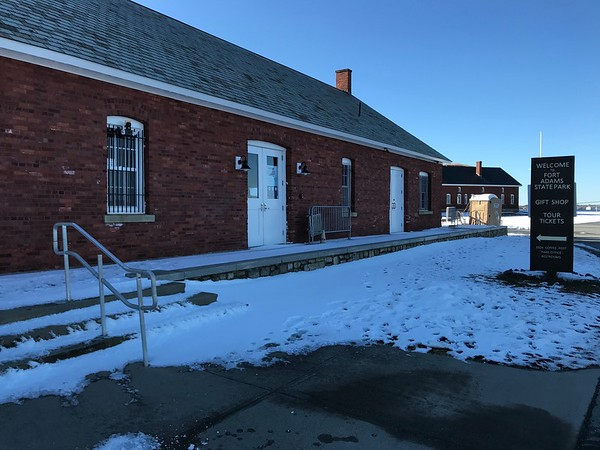 Fort Adams in Covid Winter 2021
