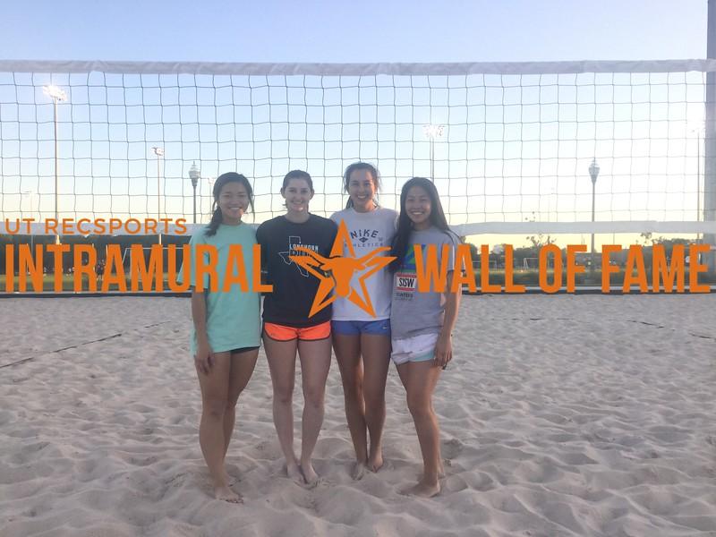 Spring 2017 Sand Volleyball Women's Runner Up_Sandy Cheeks