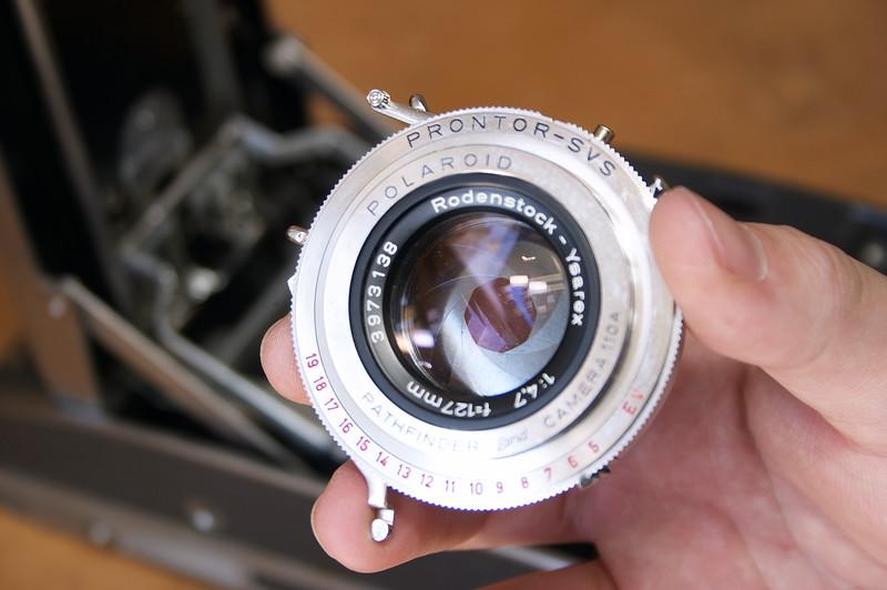 Rodenstock Ysarex 127mm f/4.7 in a Prontor shutter