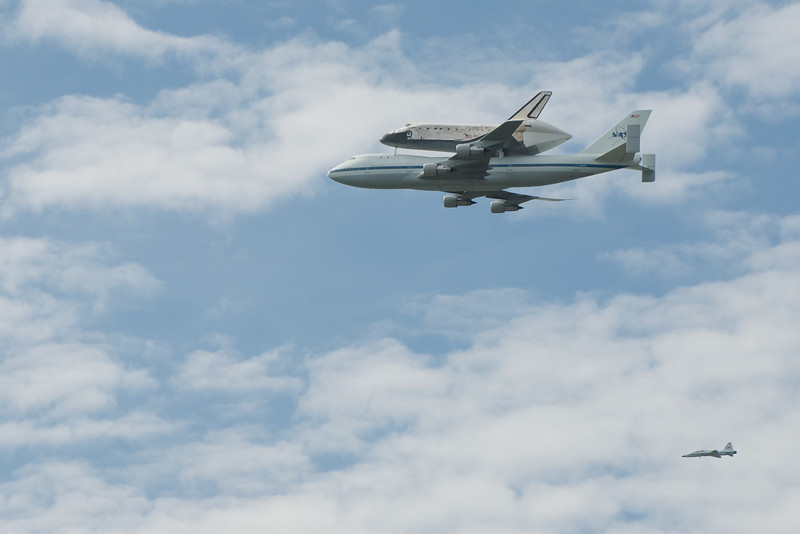 Discovery and its escort
