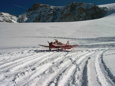 Meribel curso con avion y esquis