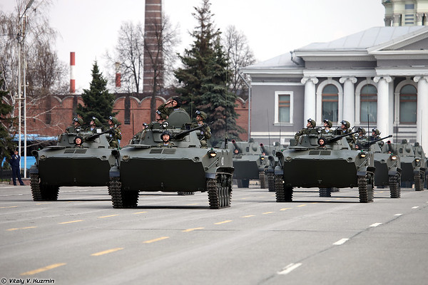 April 30th rehearsal of 2018 Victory Day Parade in Tula