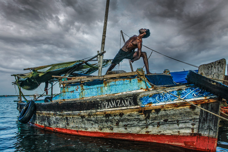 Lamu Island Boatsman Bind ~ The Indian Ocean