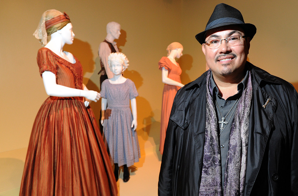 . Salvador Perez talks fashion. FIDM/Fashion Institute of Design & Merchandising is hosting the Art of Motion Picture Costume Design, which features 100 costumes from over 20 selected films, including Oscar nominated designs. Los Angeles, CA. February 09, 2014 (Photo by John McCoy / Los Angeles Daily News)