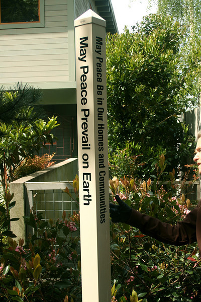Second Peace Pole I've seen in Seattle lately, on Beach Drive. How ,many are there?
