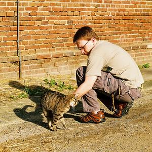 070830 Kristof und Katze