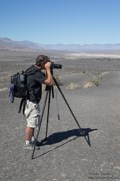 Larry photographing the Ubehebe Crater - Death Valley National Park, CA, USA