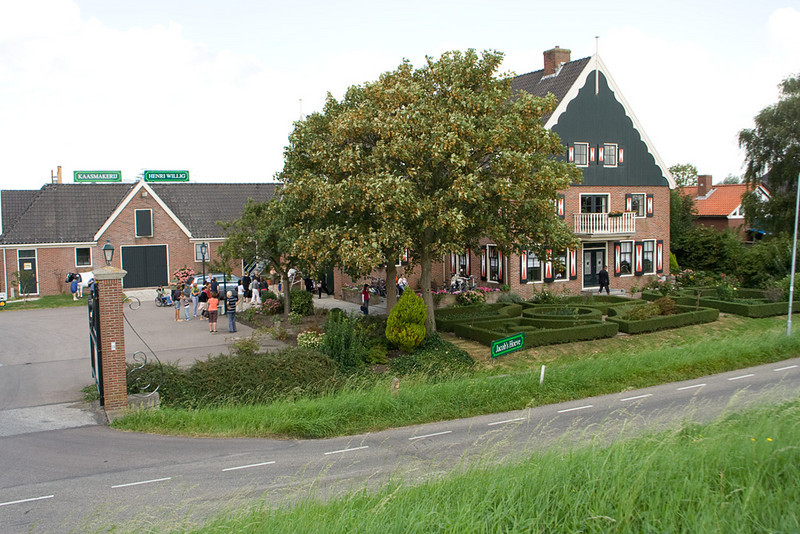 The cheese factory (and busloads of people from all over Europe).