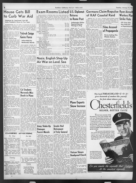 Daily Trojan, Vol. 32, No. 71, January 14, 1941