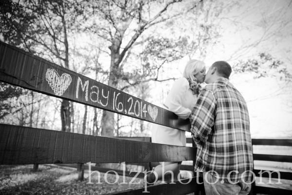Amanda & Kyle B/W Engagement Photos