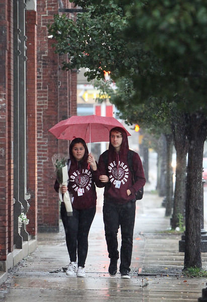 Rain on Dutton Street Lowell 101018