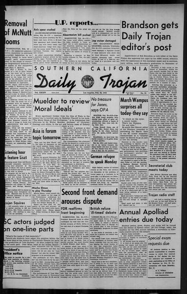 Daily Trojan, Vol. 34, No. 91, February 24, 1943