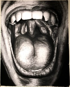 """""""Pain"""" (charcoal) by Jordan Camerato"""