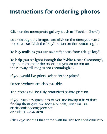 0. INSTRUCTIONS FOR ORDERING