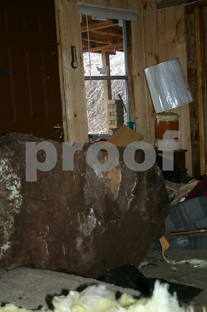 Boulder Crashes Into House - March 2005