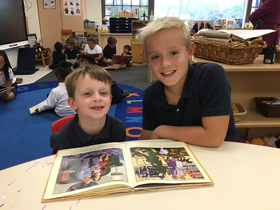 PreKM Reads With Fourth Grade Buddies